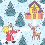 Christmas seamless pattern Royalty Free Stock Photography