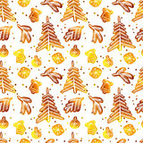Christmas seamless pattern. Vector illustration. 10 eps Royalty Free Stock Photo