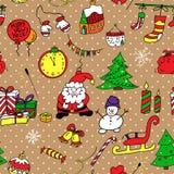 Christmas seamless pattern. Vector image Royalty Free Illustration