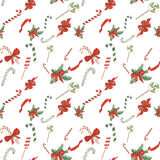 Christmas seamless pattern watercolor Stock Photography