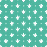 Christmas seamless pattern. With white angels silhouettes Royalty Free Stock Image