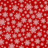 Christmas seamless pattern with white red snowflakes Stock Photography