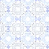 Christmas seamless pattern from white snowflakes Stock Photography