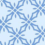 Christmas seamless pattern from white snowflakes Stock Images