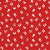 Christmas seamless pattern from white snowflakes on red background. Snowflake seamless pattern background. red and white. vector illustration stock illustration