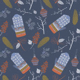 Christmas seamless pattern with winter berries. Vector illustration. Royalty Free Stock Photos