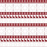 Christmas Seamless Pattern Winter Holidays Ornament Wrapping Paper Background Concept. Vector Illustration Royalty Free Stock Photos