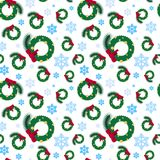 Christmas Seamless Pattern Winter Holidays Ornament Wrapping Paper Background Concept. Vector Illustration Royalty Free Stock Images