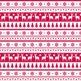 Christmas Seamless Pattern Winter Holidays Ornament Wrapping Paper Background Concept Stock Photography