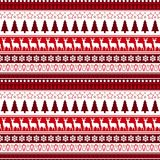 Christmas Seamless Pattern Winter Holidays Ornament Wrapping Paper Background Concept. Vector Illustration Royalty Free Stock Image