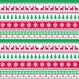 Christmas Seamless Pattern Winter Holidays Ornament Wrapping Paper Background Concept Stock Images