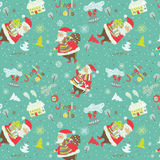 Christmas Seamless Pattern With Santa Royalty Free Stock Photo