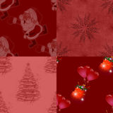 Christmas seamless patterns Royalty Free Stock Image