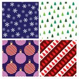 Christmas seamless patterns Royalty Free Stock Photo