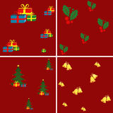 Christmas seamless patterns. vector illustration