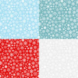 Christmas seamless patterns from snowflakes Royalty Free Stock Image