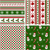 Christmas seamless patterns. Vector illustration. Royalty Free Stock Images
