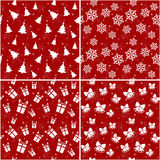 Christmas seamless patterns. Vector illustration. Royalty Free Stock Photo