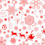Christmas seamless red pattern Stock Photos