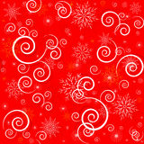 Christmas seamless red pattern Stock Image