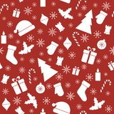 Christmas seamless red pattern Stock Photography