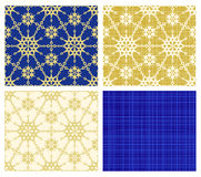Christmas seamless repeat patterns Royalty Free Stock Images