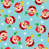 Christmas seamless Santa Claus. This is christmas seamless design. Vector file Stock Images
