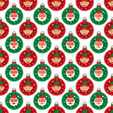 Christmas seamless Santa Claus and Elf. This is Christmas seamless design.  file Royalty Free Stock Images