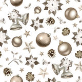 Christmas seamless silver background. Royalty Free Stock Image