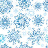 Christmas Seamless snowflakes wallpaper. Vector Royalty Free Stock Photography