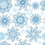 Christmas Seamless snowflakes wallpaper. Vector Royalty Free Stock Photography