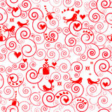 Christmas seamless swirl pattern Royalty Free Stock Image