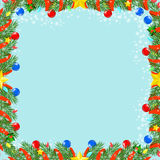 Christmas seamless texture  decorated with branches  vector Stock Photography