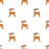 Christmas seamless texture with reindeer and snowflakes. stock illustration