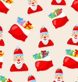 Christmas Seamless Texture with Santa Claus Royalty Free Stock Images