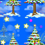 Christmas Seamless Tile Stock Photography