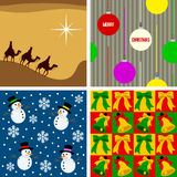 Christmas Seamless Tiles [2]. Set of four Christmas seamless backgrounds, useful also as design elements for textures, patterns or giftwrap. Check my portfolio Royalty Free Stock Images