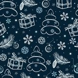 Christmas seamless vector abstract background Royalty Free Stock Images