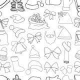 Christmas seamless vector pattern Stock Image