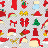 Christmas seamless vector pattern Royalty Free Stock Image