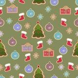Christmas seamless vintage design Stock Photos