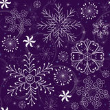 Christmas Seamless violet Pattern Royalty Free Stock Images