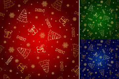 Christmas seamless wallpaper Stock Photography