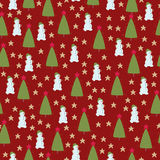 Christmas seamless wallpaper Royalty Free Stock Photos