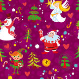 Christmas Seamless Wallpaper Pattern Royalty Free Stock Photography