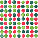 Christmas seamless watercolor pattern with dots Stock Images