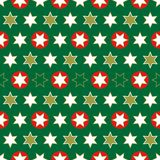 Christmas seamless wrapping paper-repeating Stock Image