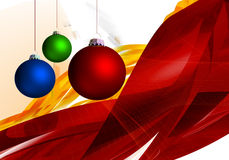 Christmas Season 001. Christmas Season Layout with xmas balls and abstract background 001 Stock Photos