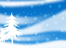 Christmas Season 003. Christmas Season Layout with snowflakes and trees 003 Royalty Free Stock Photography