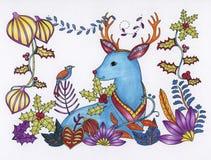 Christmas season creative coloring book vector illustration